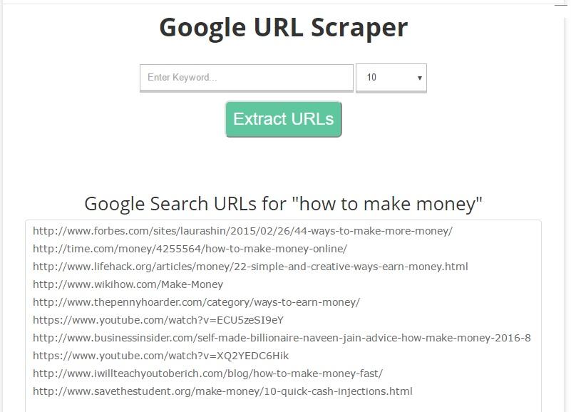 Google Url Scraper How It Looks Like